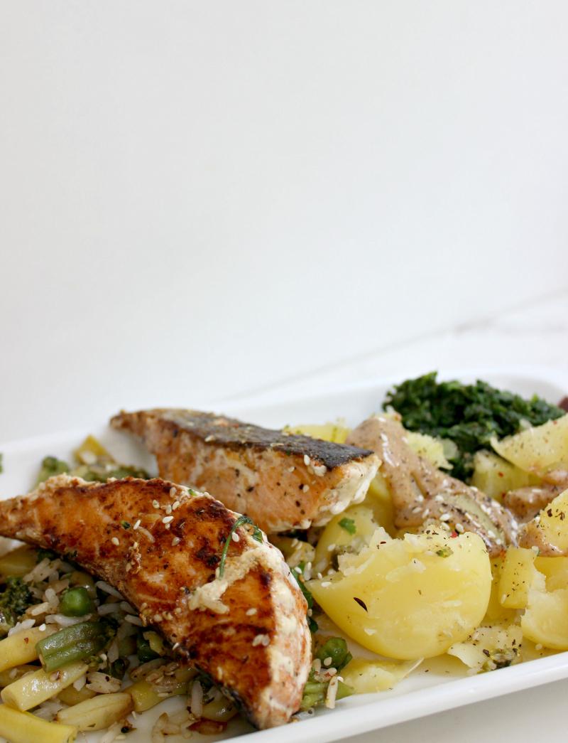 Jednostavan i zdrav obrok sa lososom