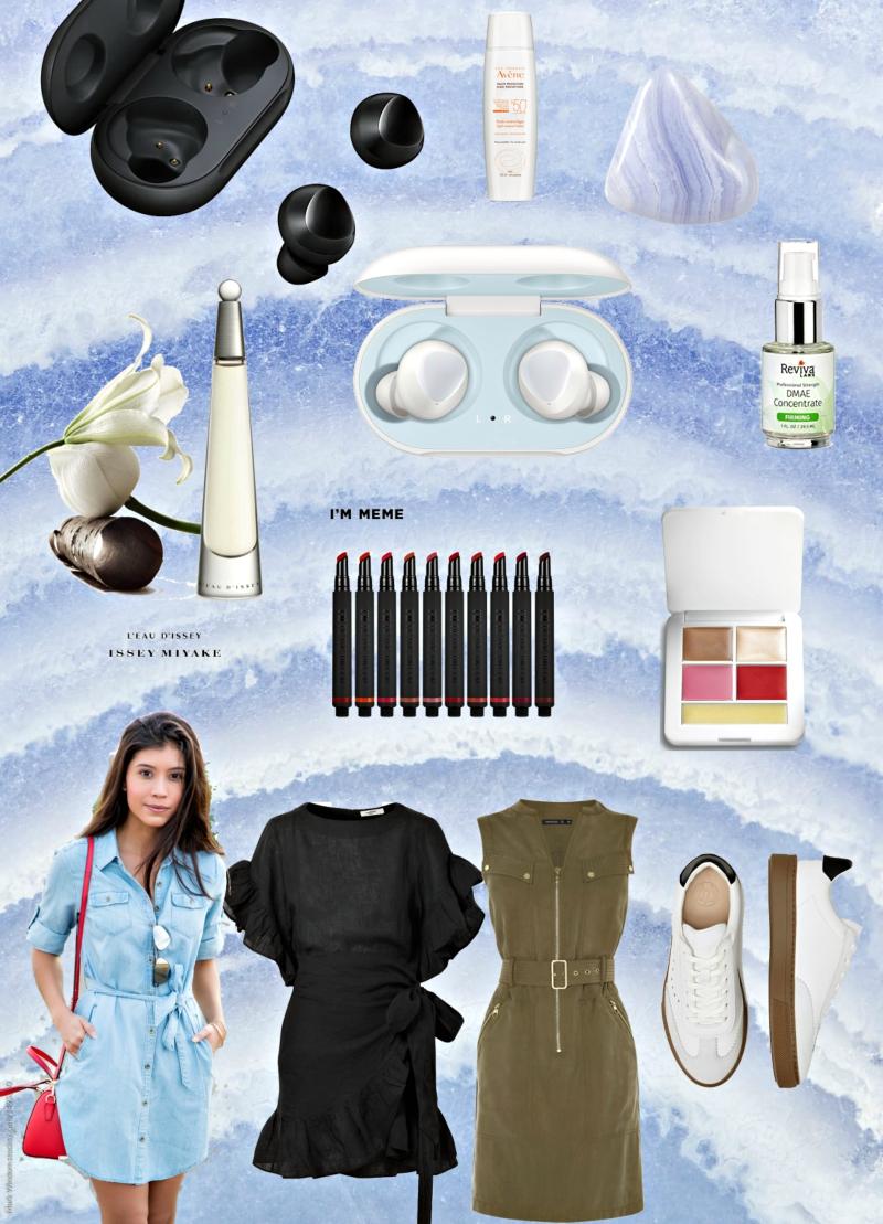 Tri haljine, Issey Miyake i wireless slušalice