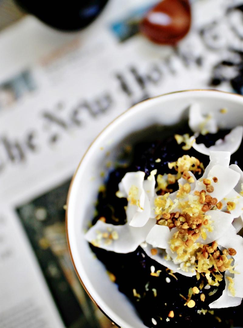 Slatki puding od crne riže