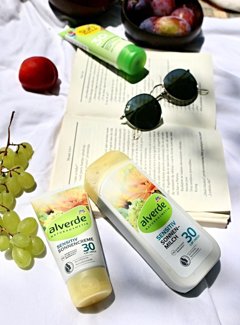 alverde sensitiv sun cream